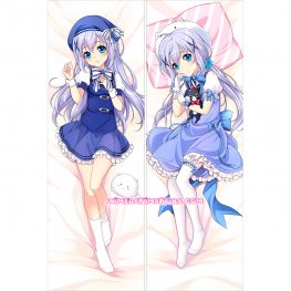 Is The Order a Rabbit Dakimakura Kafuu Chino Body Pillow Case 03