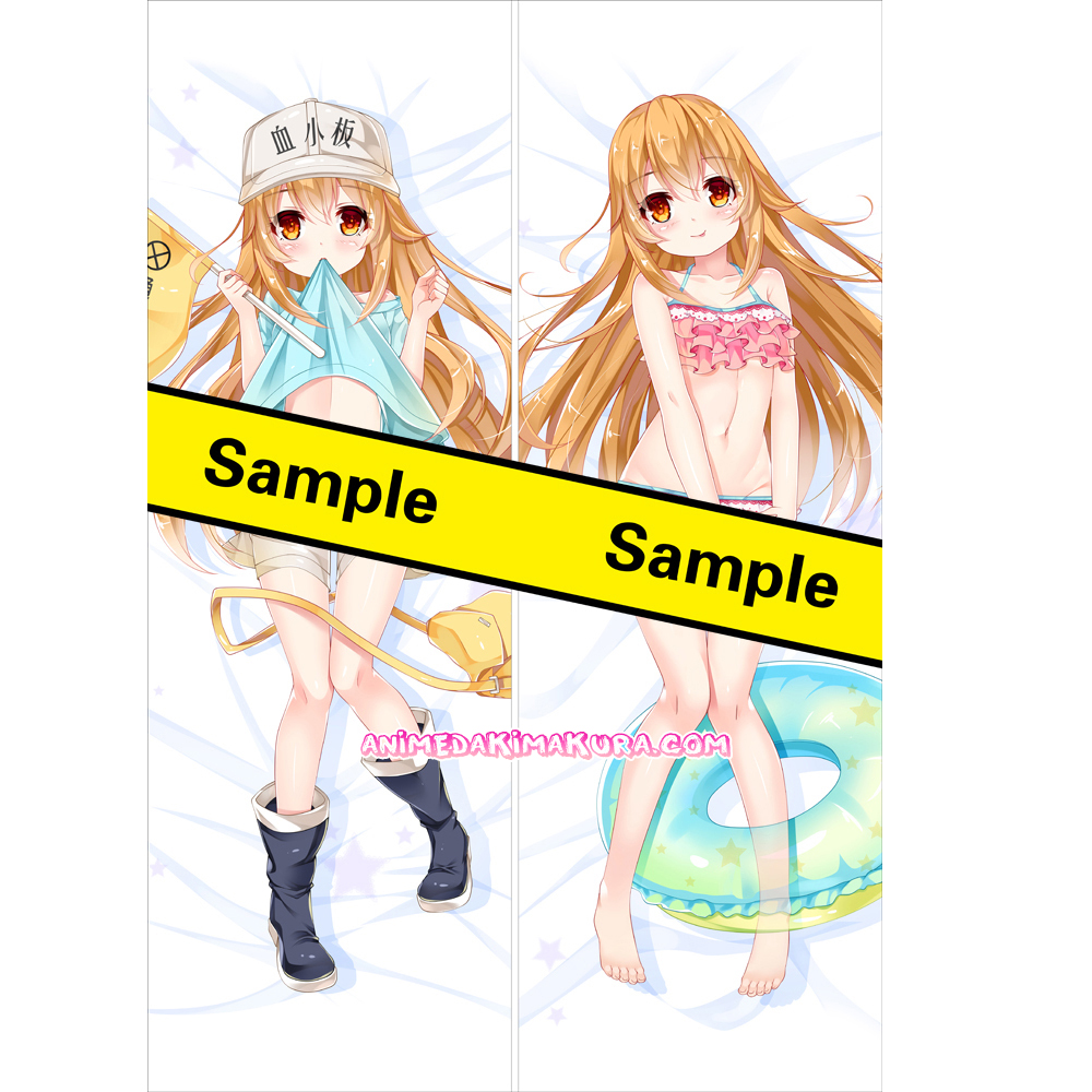 Cells at Work! Hataraku Saibou Dakimakura Kesshouban Body Pillow Case 05