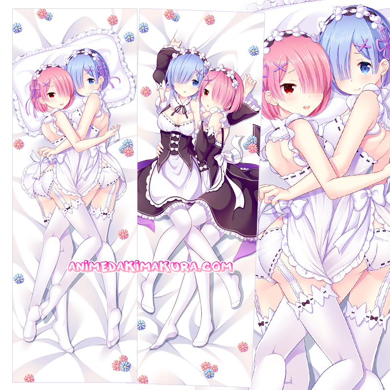 Re:Zero Dakimakura Rem Ram Body Pillow Case
