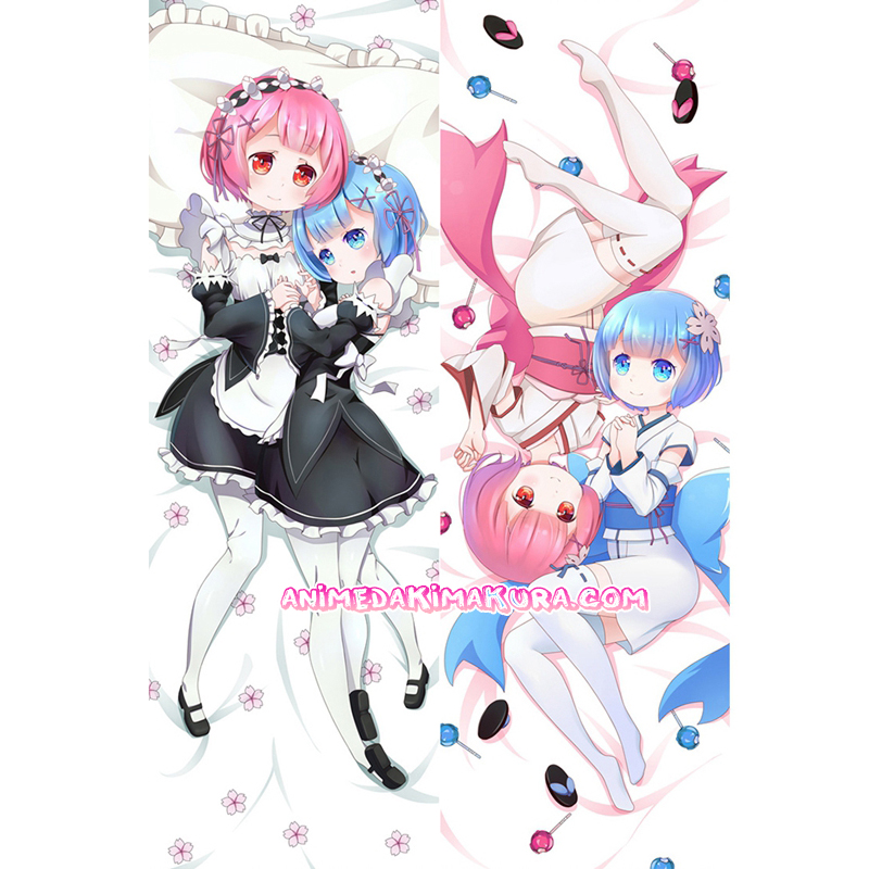 Re:Zero Dakimakura Rem Ram Body Pillow Case 02