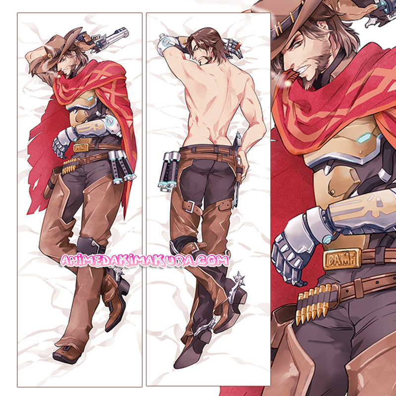 Overwatch OW Dakimakura Jesse McCree Body Pillow Case