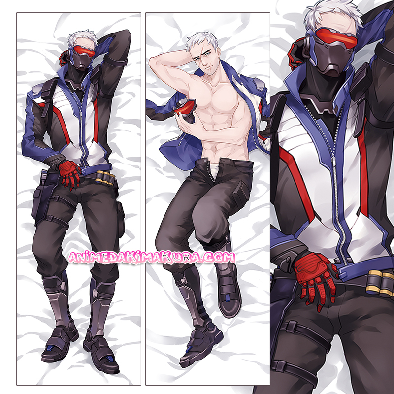 Overwatch OW Dakimakura Soldier: 76 Body Pillow Case